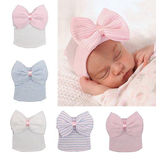 df6ed7cd91a Ever Fairy 3 Pcs Newborn Hospital Hat Infant Baby Hat Cap with Big ...